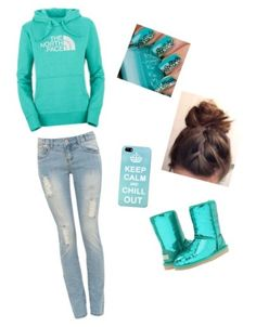 So cute lazy day outfit! I want the sweatshirt! :) DEFINITLY not the boots/shoes....