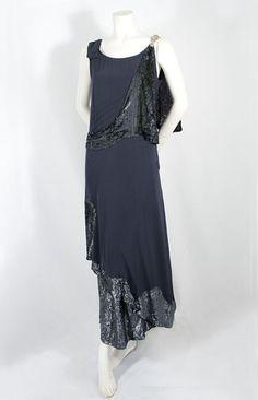 Worth sequined silk evening dress, c. 1922.
