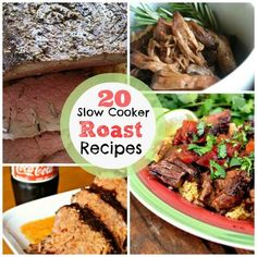 All about that #slowcooking at Spoonful. Share this pin on 20 Easy Slow Cooker Roast Recipes!