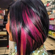 Pink and Black hair!