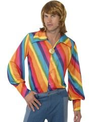 1970s Rainbow Colour Shirt
