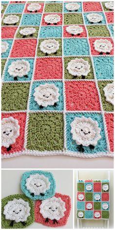 Crochet Baby Blanket Pattern Baby Blanket by TheKnittingCloset