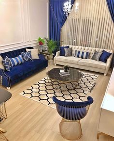 News On Navy Blue And White Living Room Decor Revealed 86 - athomebyte Blue Living Room Decor, Living Room Sofa, Interior Design Living Room, Living Room Designs, Sofa Design, Design Furniture, Furniture Ideas, Home And Living, House Design