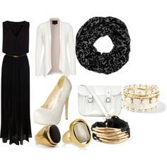 black and white with hijab by rizka-habsyi on Polyvore