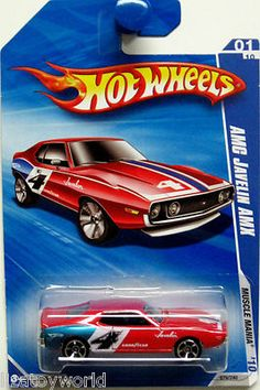 AMC Javelin AMX Hot Wheels 2010 MUSCLE MANIA #01/10 die cast red