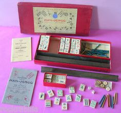 Antique Mah Jong Sets