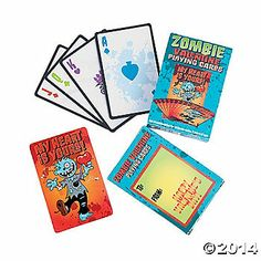 zombie valentine playing cards