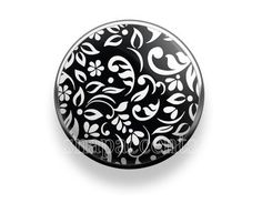 Choose your own color | Floral design Snap Jewelry - Black and White
