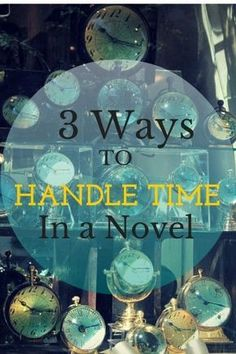 Time passing, flashbacks and more - This article covers it all! Very handy for writer's with tricky timelines.