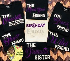 Birthday Squad Tee/ Birthday Queen Birthday Shirt/ Shirts sold separately - Birthday Shirts - Ideas of Birthday Shirts - Birthday Squad Tees Birthday Queen Birthday Shirts Hotel Birthday Parties, Birthday Party For Teens, Birthday Party Outfits, Sweet 16 Birthday, Birthday Fun, Birthday Ideas, Birthday Quotes, Hotel Party, Sleepover Party