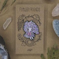 Lilac Flower Friend Pin