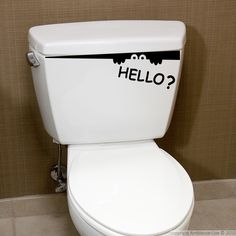 This Hello! bathroom #wall #decal can give you ideas for decorating. #stickers