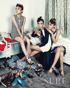 Sure Korea July 2013 Model: Kwak Ji-young, Lee Sung-kyung, Choi Joon-young