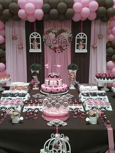 This would be fun for my birthday! Pink & Brown Dessert Table / Catch My Party Party Decoration, Birthday Decorations, Pink Birthday, Birthday Parties, Birthday Ideas, Cake Birthday, Dessert Table Birthday, Dessert Buffet, Dessert Tables