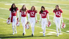 WATCH: Victoria's Secret Models Are The Most Stunning Football Players via @stylelistcanada