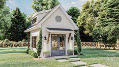 Farmhouse Sheds, Modern Farmhouse Exterior, Farmhouse Style, Farmhouse Home Plans, Modern Cottage Style, Farmhouse Office, Modern Farmhouse Design, Farmhouse Homes, Tiny House Cabin