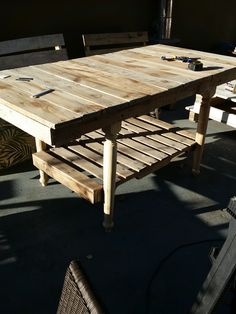 Colonial Farm House style, solid wood table