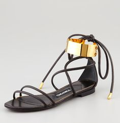 Tom Ford / metal cuff sandal