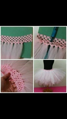 Learn how to make a tutu using a crochet headband and tulle. This tutorial is for the most basic tutu. It's a solid colored tutu with two layers of tulle. Tutu Sans Couture, Tutorial Tutu, Baby Headband Tutorial, Tutu En Tulle, Tulle Skirts, Diy Tutu Skirt, Crochet Tutu Dress, Tutu Skirt Women Diy, Tulle Skirt Kids