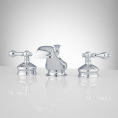 Shannon Widespread Bathroom Faucet - Lever Handles - Chrome