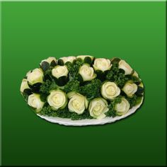 VEGETABLE CARVED ROSES