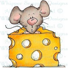 The Big Cheese - Mice - Animals - Rubber Stamps - Shop Colored Pencil Artwork, Free Adult Coloring, Mouse Crafts, Arte Country, Pet Mice, Hamster, Cute Mouse, Copics, Drawing For Kids