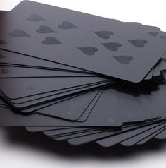 This screams cool.  ALL BLACK playing cards!