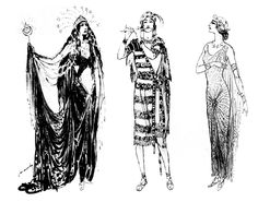 """The Queen of the Night, Tamino and Pamina costume designs by Caramba for a Toscanini production of """"Die Zauberflote"""" Lyric Opera, The Magic Flute, Ballet Costumes, Stage Design, My Character, How To Draw Hands, Sketches, Queen, Image"""