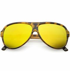 d7ec3f7238 This oversize aviator sunglass style is the perfect mix of retro and  classic. Designed with color mirror flat lenses to add just the right  amount of color ...