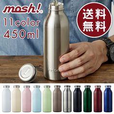 ステンレス製携帯用ボトルmosh!モッシュ350ml水筒マグボトル保冷保温