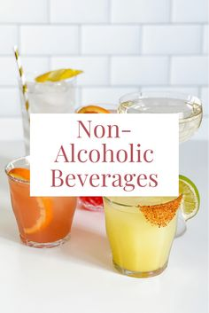 40+ of the best non-alcoholic wines, beers, spirits, mixers, and pre-made cocktails! Plus, recipe ideas for no-booze drinks. Non Alcoholic Wine, Booze Drink, Mixers, Recipe Ideas, Beverages, Cocktails, Appetizers, Beer, Good Things