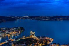 Good night Bergen by Rune Hansen - Photo 152743441 / Bergen, Aerial Photography, Travel Photography, Before I Die, Seattle Skyline, Beautiful World, Good Night, Twilight, Norway