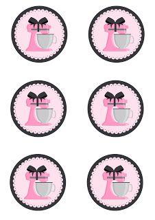 Kit Festa Pronta Chá de Panela grátis para baixar Baking Logo Design, Cake Logo Design, Printable Labels, Party Printables, Free Printables, Logo Online Shop, Baking Party, Bakery Logo, Bottle Cap Images