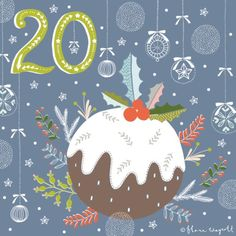 DAY 20 - A delicious Christmas pudding! xx
