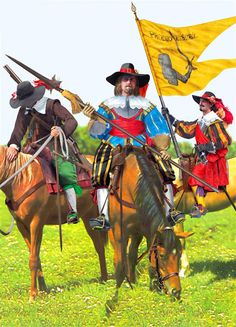 German dragoons during the Thirty Years War