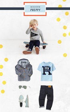 Kids Style: Modern Preppy Fashion for Boys