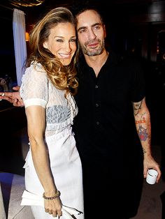 Two of my favorite people Marc Jacobs and SJP!