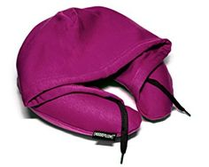 HoodiePillow Brand (Inflatable) Travel Hoodie Pillow - Purple