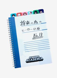 Put together your own Hero Analysis for the Future just like Deku! This journal from My Hero Academia features tabs of Deku Bakugo Uraraka Todoroki Froppy and Iida. There are lined pages for all of your note-taking. My Hero Academia Merchandise, Anime Merchandise, My Hero Academia Episodes, My Hero Academia Memes, Hero Academia Characters, My Hero Academia Manga, Anime Characters, Anime Inspired Outfits, Otaku Room