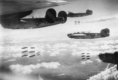 Liberators of the Bomb Group bomb Landshut , 16 April Image . Aviation World, Aviation Art, Iron Eagle, Flying Boat, Supermarine Spitfire, America's Finest, Ww2 Aircraft, Time Photo, Military History