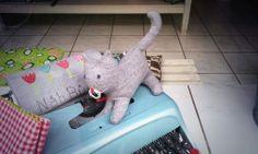 Kaninchenfan Lucky - Mein Kaninchenloch: i discovered today a voodoo doll of Schnucki i am scared ~_~  #cat #katze #neko   http://kaninchenfanlucky-meinkaninchenloch.blogspot.de/2014/01/i-discovered-today-voodoo-doll-of.html