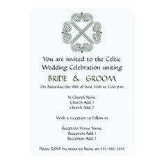 Shop Celtic Wedding Celebration Invitation created by Personalize it with photos & text or purchase as is! Celtic Wedding, Irish Wedding, Wedding Couples, Wedding Bride, Blue Wedding, Bride Groom, Birthday Celebration Quotes, Celtic Green, Celebration Around The World