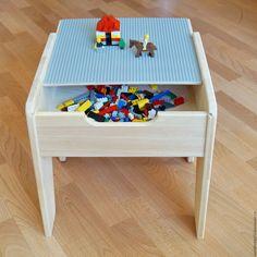 Купить LEGO стол - бежевый, легостол, lego, игровой столик, лего, столик для ребенка, для детской