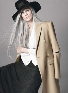 Fabulous with gray hair.
