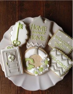 Housewarming cookies by Bambella Cookie Boutique