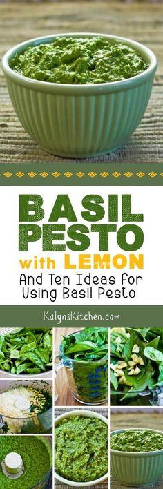 Basil Pesto with Lemon (and Ten Ideas for Using Basil Pesto) found on KalynsKitchen.com