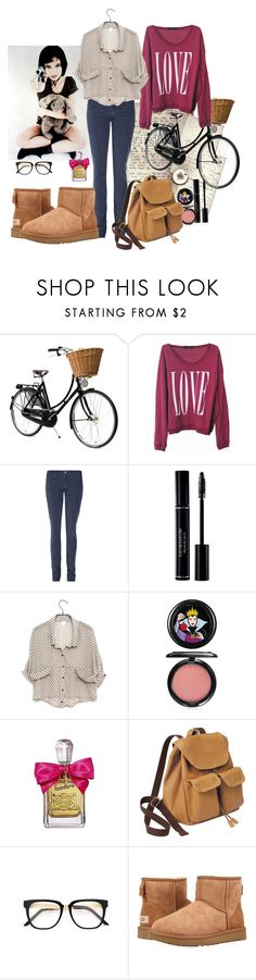 """shape of my heart"" by caglatersak ❤ liked on Polyvore featuring Wildfox, M.i.h Jeans, Christian Dior, MAC Cosmetics, Juicy Couture and UGG"