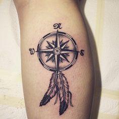 Bildergebnis für dream catcher compass tattoo