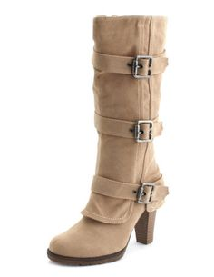 BELTED FOLD-OVER RIDING BOOT  $42.50  Style: 301183651