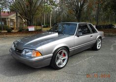 I'm really starting to want one of these. May have to make that happen Mustang Cars, Ford Mustang Gt, Mustang Rocket, Notchback Mustang, Ford Fox, Mustang Wallpaper, Fox Body Mustang, Car Man Cave, Pony Car